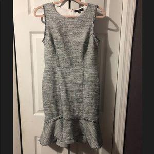 Banana Republic tweed fringe dress